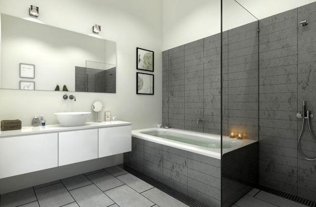 Salle de bain douche italienne mv carrelage gembloux for Photo sdb moderne