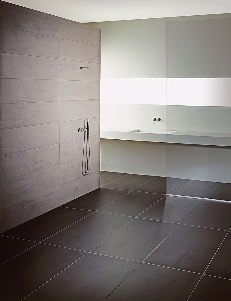 Salle de bain douche italienne mv carrelage gembloux - Ecriteau salle de bain ...